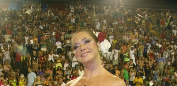 Letícia Spiller durante ensaio técnico da escolas de samba União da Ilha do Governador (16/01/2010)
