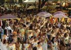 Foliões se divertem no 1º dia de Carnaval no Circuito Batatinha