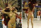 Qual foi a musa da primeira noite de desfiles do Carnaval do Rio de Janeiro?