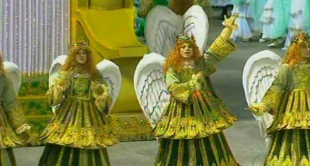 Com anjos em dourado e verde, Mocidade mostra o Paraíso à Sapucaí