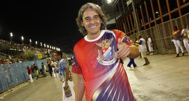 Alexandre Borges vai ao ensaio técnico da União da Ilha na Sapucaí (12/2/2011)