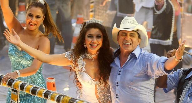 Chitãozinho e a cantora Paula Fernandes