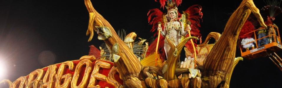 Dragões da Real abre o 2º dia de desfiles do Carnaval de SP